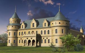 Замок-шато с винодельней